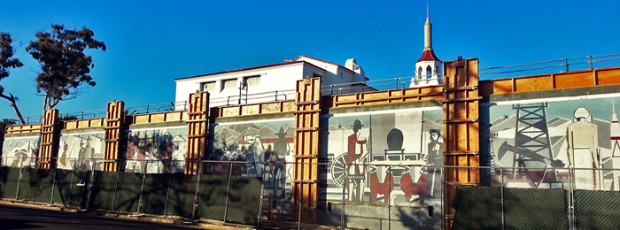 Victoria Street Mural Progress