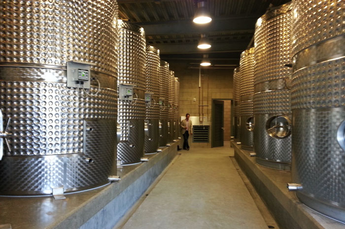 Presqu'ile Winery Fermentation Room, Santa Maria