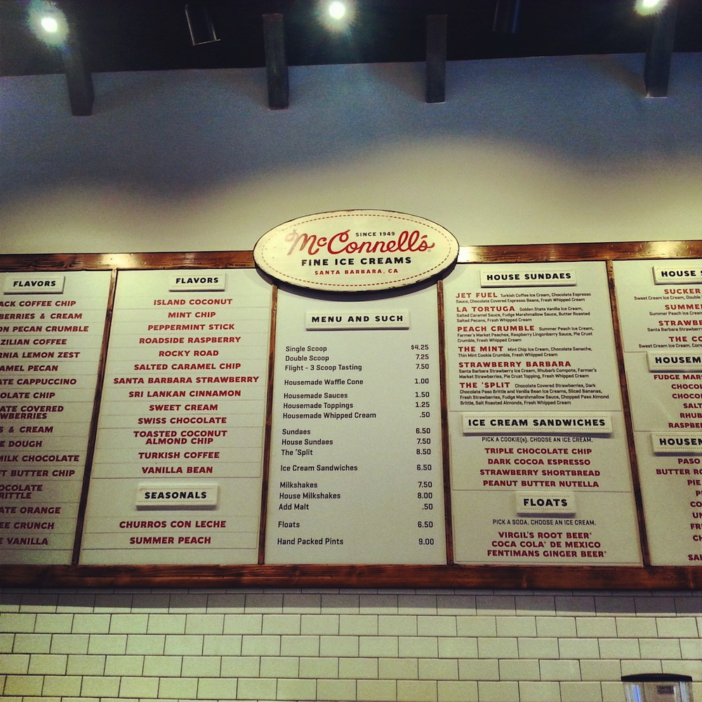 McConnell's Ice Cream, State Street, Santa Barbara